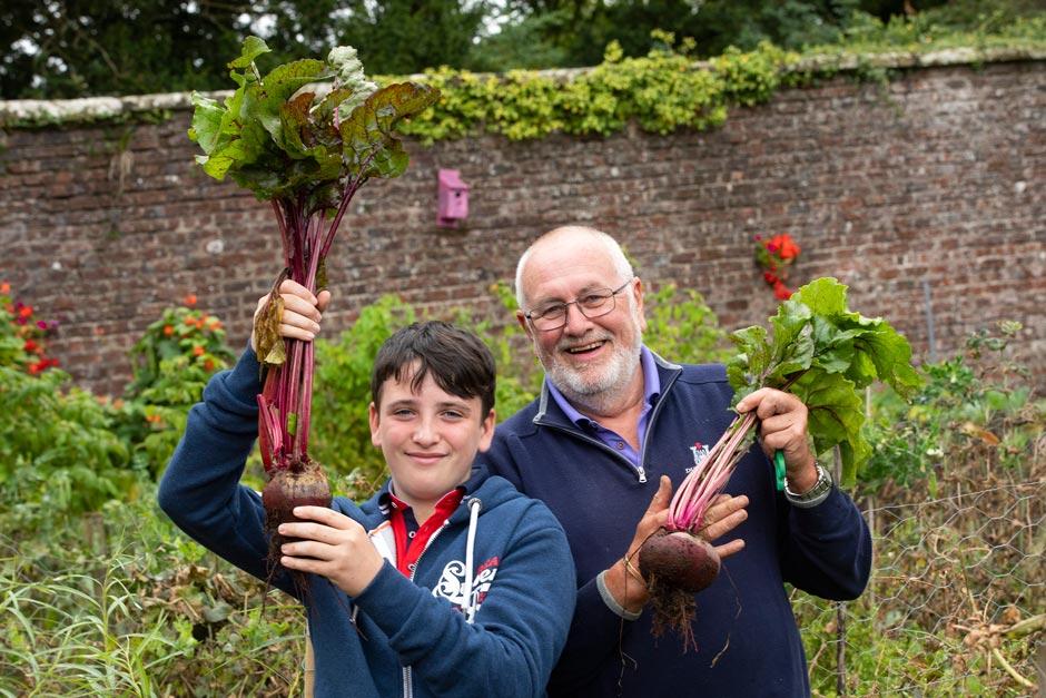 Volunteers grow veg in Castlecaulfield