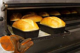 Bread coming out of the oven at Wisley