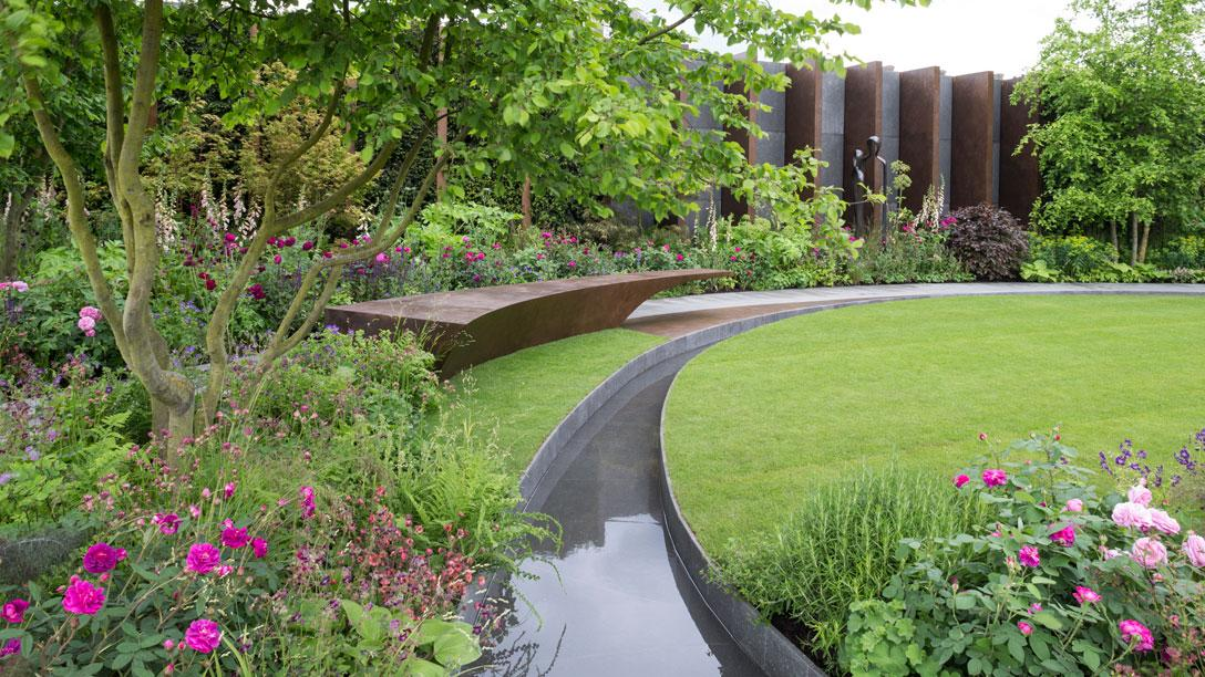 all about london  rhs chelsea flower show - the chelsea barracks garden - show gardens