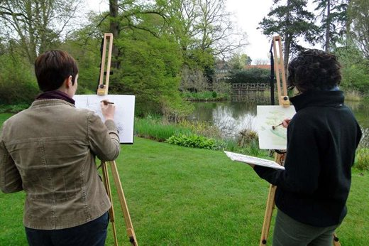 painting at Wisley
