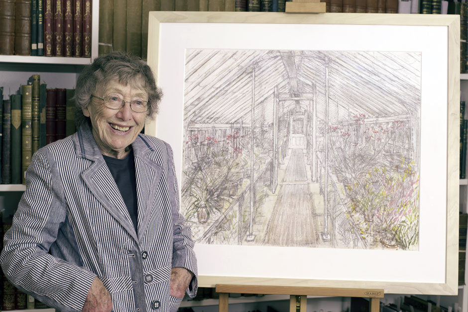 Click to enlarge: Olwyn Bowey with 'Greenhouse, West Dean Gardens' (2016)