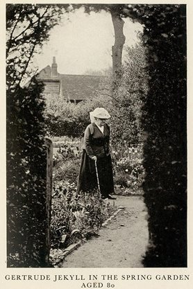 Gertrude Jekyll in the Spring Garden, aged 80