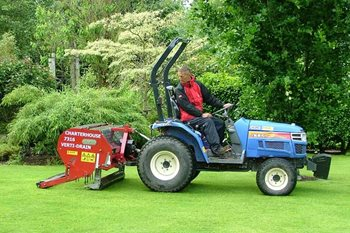 Using a hollow tine machine