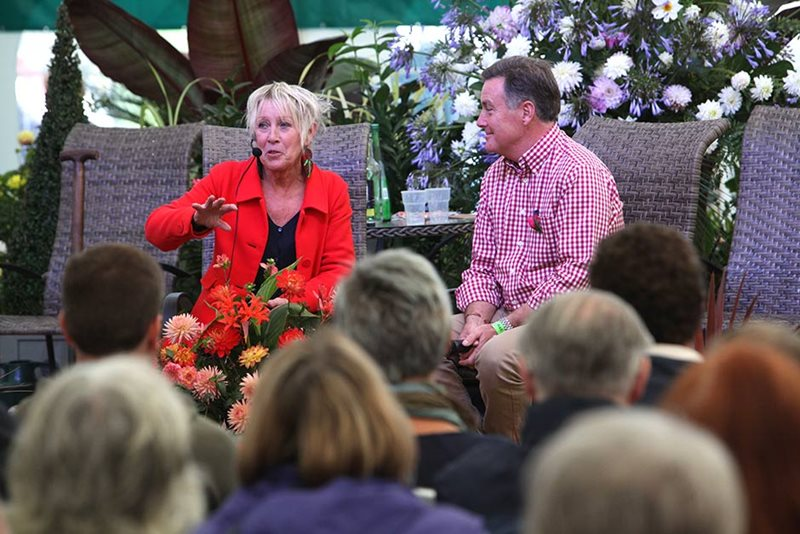Carol Klein and Martin Fish