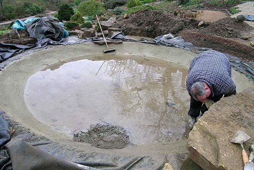 Constructing a pond