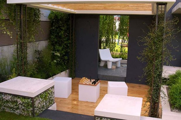 See rhs tips on styling your urban garden rhs gardening for Garden design ideas cyprus