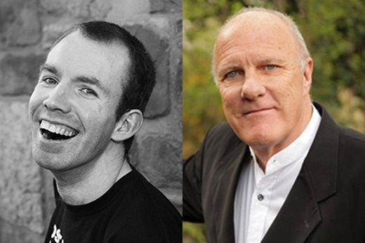Lee Ridley and Richard Digance