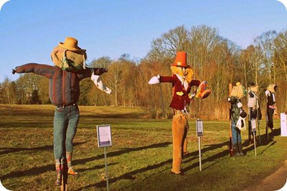 Scarecrows at RHS Garden Harlow Carr