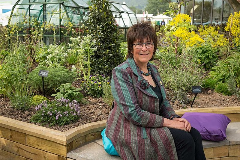 Jekka McVicar and her health and wellbeing garden artwork