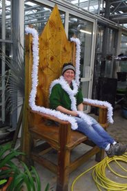 Sandra our arid expert feeling regal on the White Witch's throne
