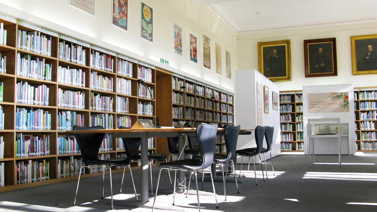 Upper Reading Room in the Lindley Library