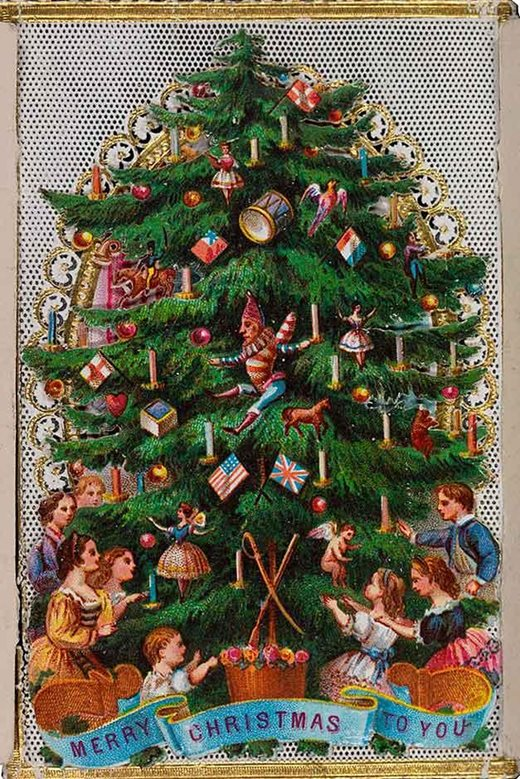Victorian Christmas Tree.Read Our Festive Blog On The Popularity Of The Christmas
