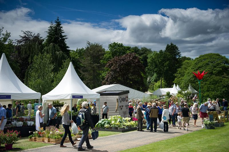 Visitors browsing at the Harlow Carr Flower Show