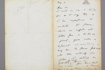 Letter from Charles Darwin to Robinson detailing assistance Darwin was seeking with his pollination trials, 1866