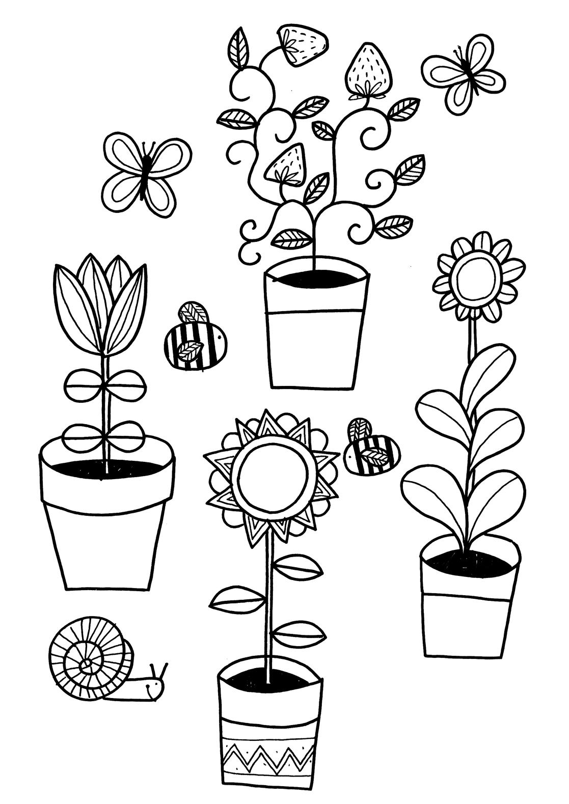 coloring pages seeds and plants - photo #40