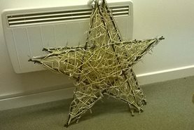 Christmas willow stars, ready to have lights inserted