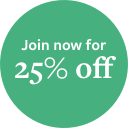 Join now for 25% off