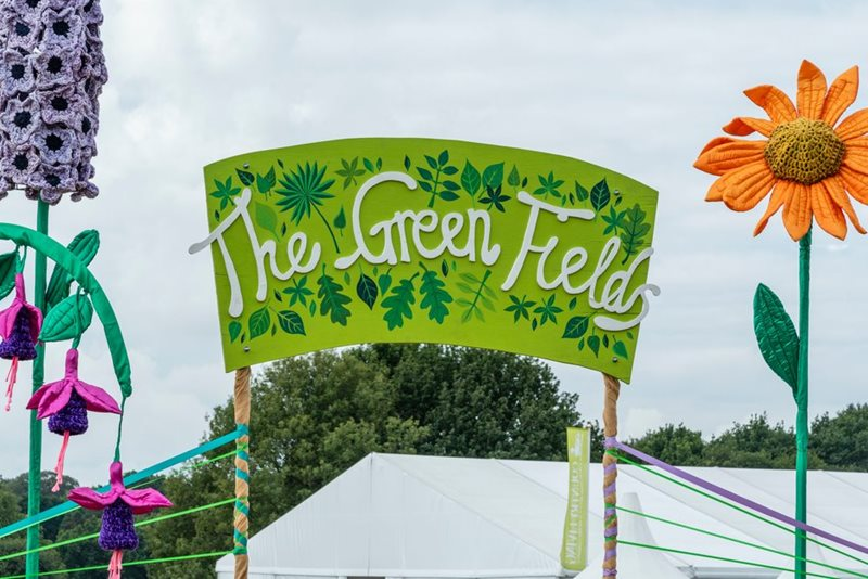 Entrance to The Green Fields