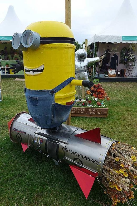 Minion scarecrow from Rosemead Preparatory School
