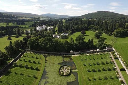 Blair Castle from the air