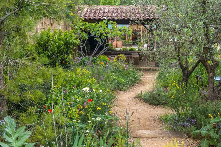 Pathway through James Basson's beautiful Perfumer's Garden