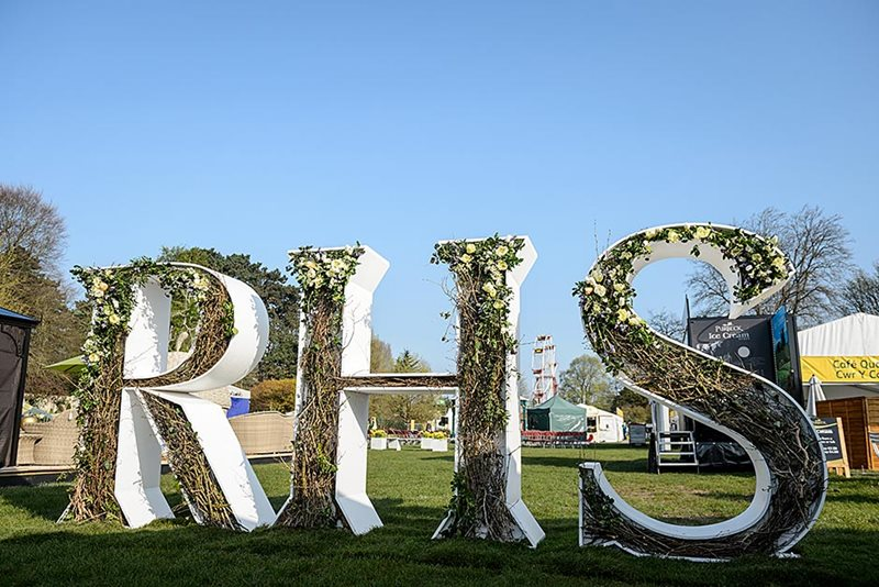 RHS sculpture at Cardiff flower show