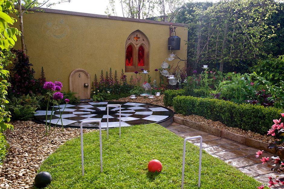 Alice in Wonderland garden at RHS Malvern Spring Festival 2015