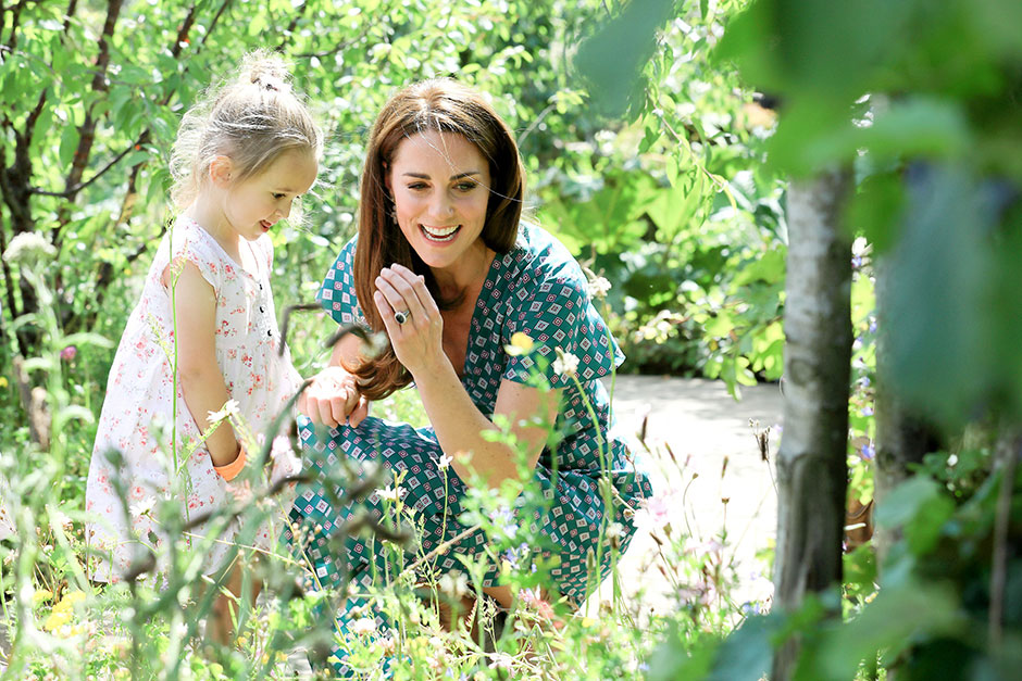 HRH The Duchess of Cambridge visits the RHS Back to Nature