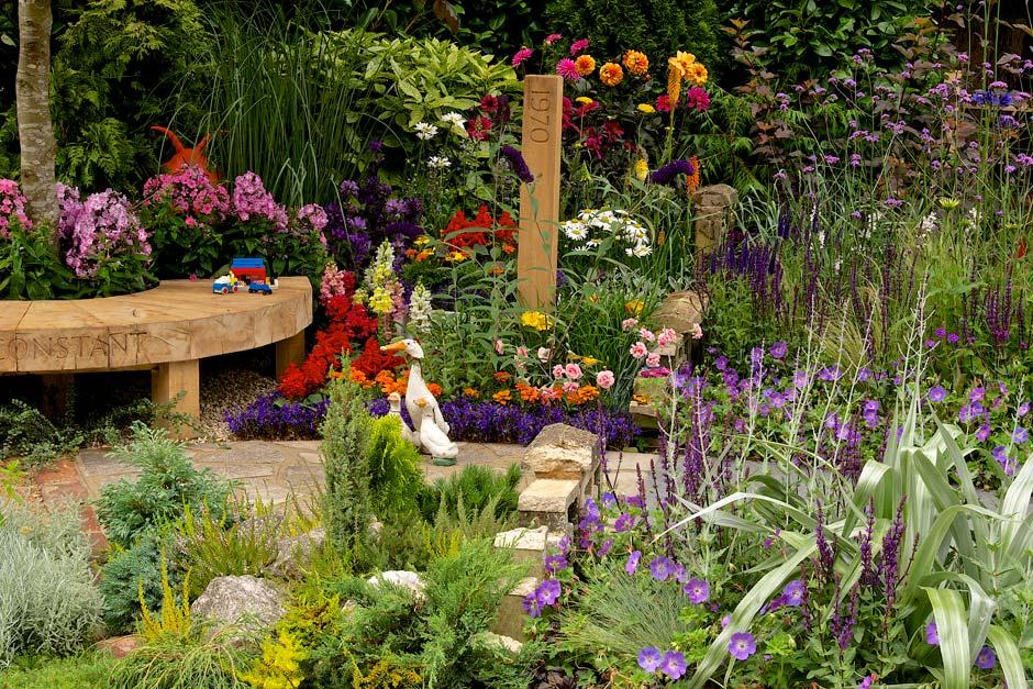 The NSPCC Legacy summer garden at the RHS Hampton Court Palace Flower ...