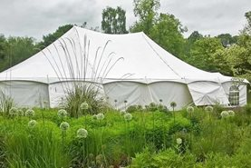 Marquee at RHS Garden Harlow Carr