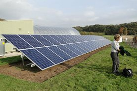 Solar panels at Deers Farm