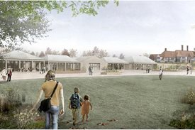 Artist's impression of the Wisley welcome area