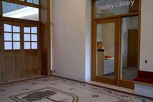 New Lindley Library entrance