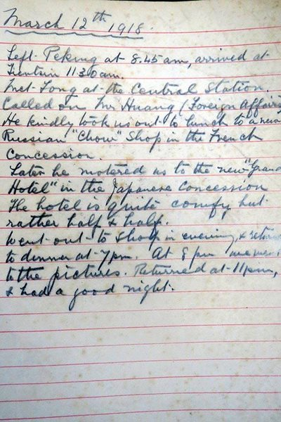An extract from Purdom's notebook