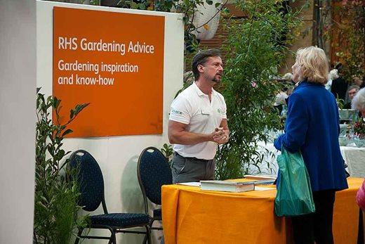 the RHS Gardening Advice station