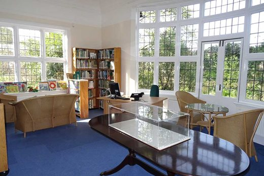 Interior of Wisley Garden Library