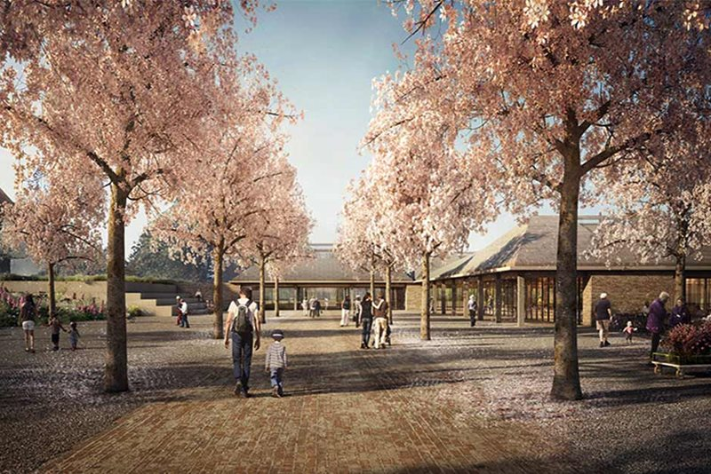 Artist's impression of Wisley's proposed visitor entrance