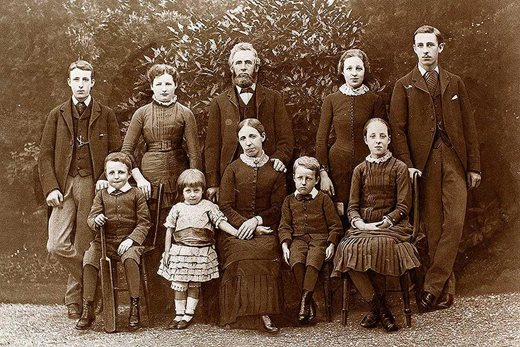 James Child and his family