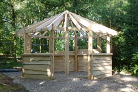 Betty's Shelter at RHS Garden Harlow Carr