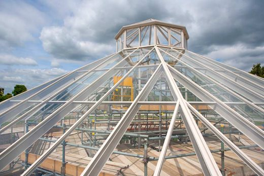 Panes of glass added to the roof
