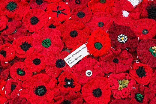 Individual hand made poppies