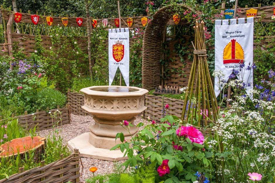 Runnymede Surrey Magna Carta 800th Anniversary Garden