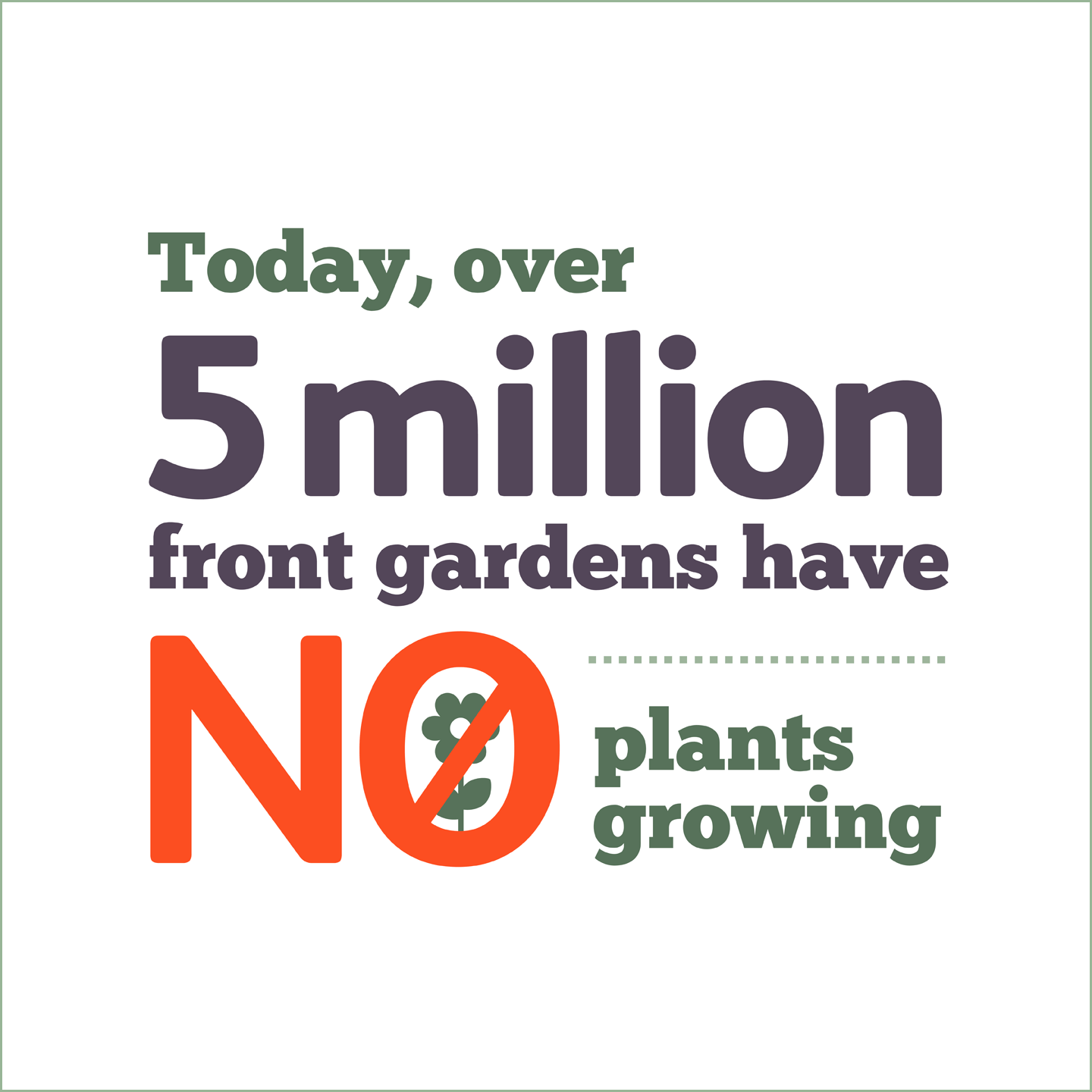Over 5 million front gardens have no plants growing