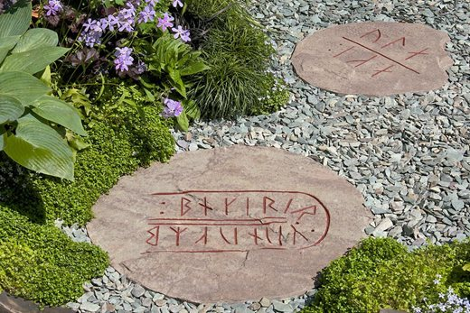 Stepping stones in the Viking Cruises garden 2014