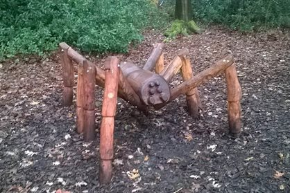 Colin the spider in the young explorers play area