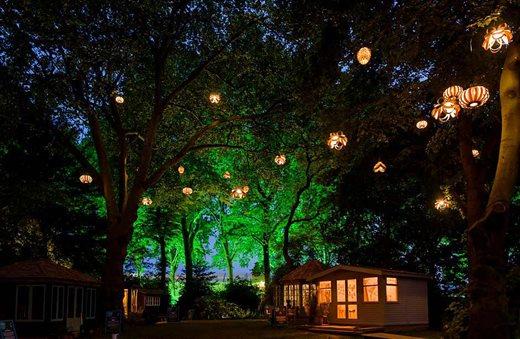 Ranelagh gardens at night