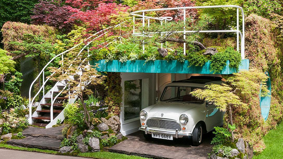 Delightful RHS Chelsea Flower Show   Senri Sentei   Garage Garden   ARTISAN GARDENS    Gold Medal Winner