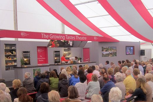 Large audiences attended events in the marquees at RHS Hampton Court Palace Flower Show