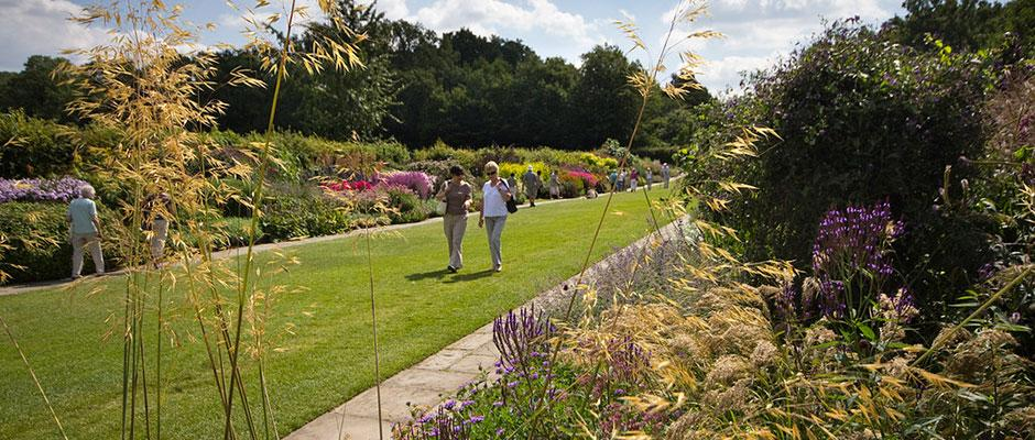 Visitors walking along the Mixed Borders. Image: Carol Sheppard