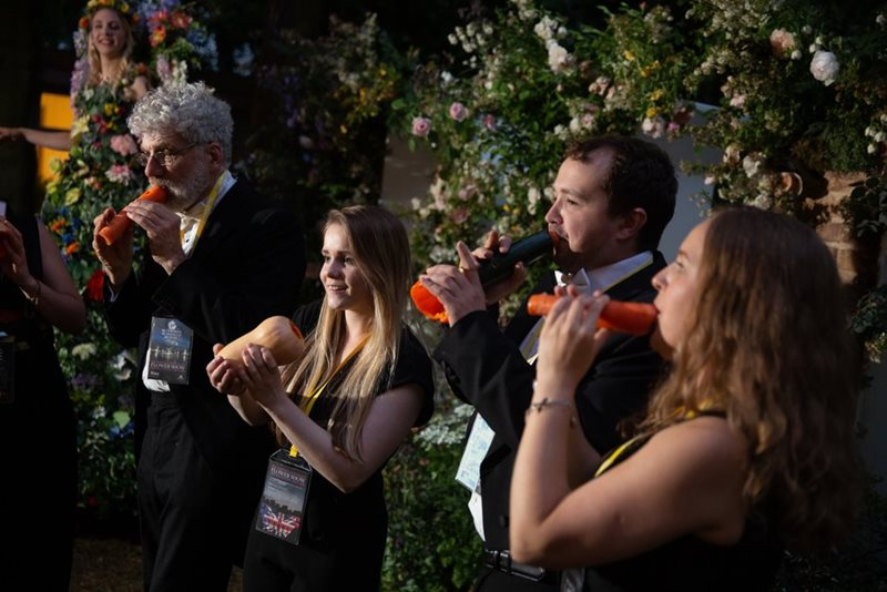 The London Vegetable Orchestra play vegetables